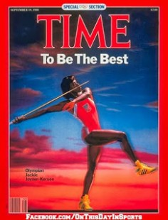 Jackie Joyner-Kersee battled through a knee injury and won the gold medal