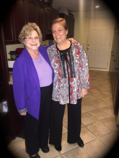 Carole Marks with Bonnie Moore founder of Golden Girls Network